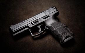 Picture gun, weapons, background, Heckler & Koch VP9