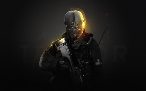 Picture Police, Helmet, Soldiers, Weapons, Fighter, Police, Fiction, Sniper, Future, Modern Warfare, Concept Art, Cyborg, Sniper, …
