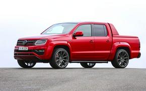 Picture Volkswagen, side view, pickup, Amarok, Red Rock, 2019, Werk2, RedRok, Red Amarok
