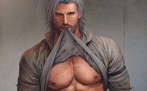 Picture look, art, male, shirt, muscle