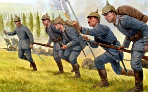 Picture WWI, The German Imperial army, Mauser 98, The German Empire, The first World war, Soldiers, …
