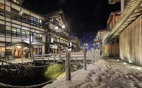 Picture snow, night, street