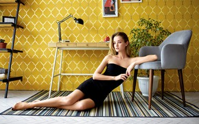 Picture pose, table, room, wall, model, plant, lamp, portrait, interior, chair, makeup, figure, dress, hairstyle, pictures, …