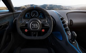 Picture the wheel, Bugatti, salon, hypercar, Chiron, 2020, Pur Sport