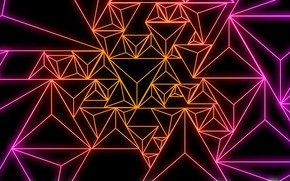 Picture triangle, pattern, paint, line