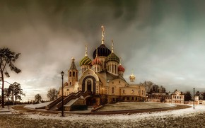 Picture winter, Church, temple, St. Igor Of Chernigov