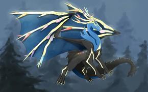 Picture background, dragon, art, Pokemon