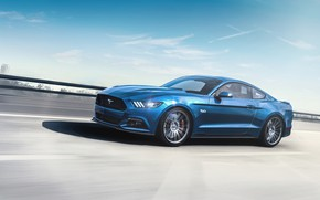 Picture Mustang, Ford, Auto, Blue, Machine, Ford Mustang 2015, Transport & Vehicles, by the light of …