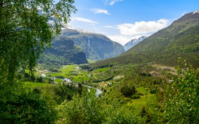 Picture Nature, Mountains, Forest, Norway, Landscape, Fortun