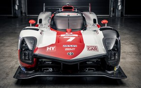Picture the hood, Toyota, front, WEC, 4WD, 2021, Gazoo Racing, GR010 Hybrid, 3.5 л., V6 twin …