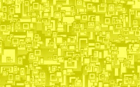 Picture yellow, abstraction, geometry, rectangle