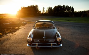 Picture Volkswagen, Car, Sunset, Photography, Karmann Ghia, Socal