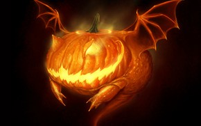 Picture monster, mouth, Halloween, horror, Halloween, Jack, horror, hell of a grin, bat wings, by Robpowell