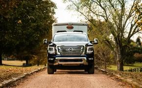 Picture Nissan, pickup, on the road, Titan, 2020, Titan XD SL