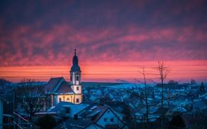 Picture Abendrot, Vorweihnachtszeit, St.Remigius