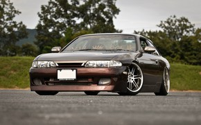 Picture Nissan, Car, Tuning, Brown
