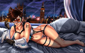 Picture London, Girls, Night, Art, Art, Form, Figure, Character, Cigarette, Characters, Overwatch, Tracer, Lena Oxton, Tracer, …