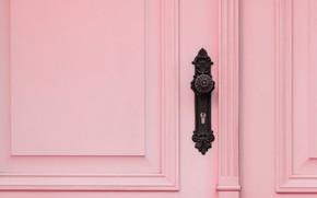 Picture pink, pink, the door, handle