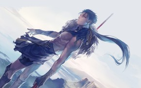 Picture guy, spear, Lancer, Fate stay night, Fate / Stay Night