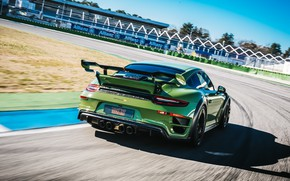 Picture speed, 911, Porsche, rear view, Turbo S, TechArt, 2019, GT Street RS