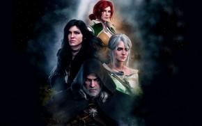 Picture Geralt, Ian, Triss Merigold, Geralt of Rivia, Triss Merigold, White Wolf, The Witcher 3 Wild …