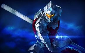 Picture fiction, sword, anime, costume, helmet, armor, superhero, ultraman