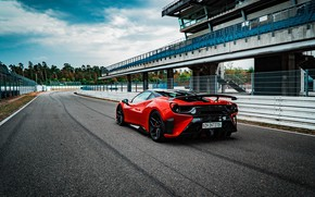 Picture Ferrari, supercar, rear view, GTB, 2018, 488, Pogea Racing, FPlus Corsa