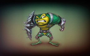 Picture Minimalism, Figure, Art, Toad, Battletoads, Rash, Toad, ANDREY GORKOVENKO, by ANDREY GORKOVENKO, Battlletoad, Battle Toads, …