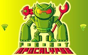 Picture green, robot, chameleon
