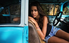 Picture Girl, Car, View