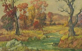 Picture landscape, AUTUMN, Maurice Braun, Maurice Brown
