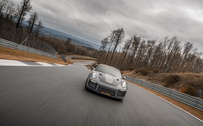 Picture overcast, speed, 911, Porsche, racing track, GT2 RS, 991, Edo Competition, 2020