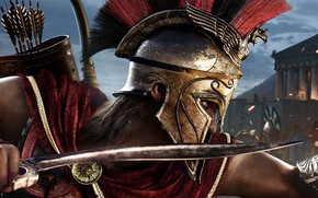 Wallpaper warrior, Ubisoft, Assassin's Creed, Odyssey, E3 2018, Assassin's Creed Odyssey