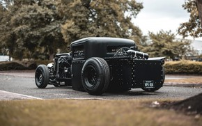 Picture Ford, Black, Custom, Model A
