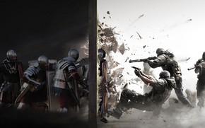 Wallpaper weapons, wall, warrior, soldiers, Legionnaire, spec.Naz.