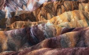 Picture nature, hills, paint, texture