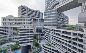 Picture singapore, building, the interlace