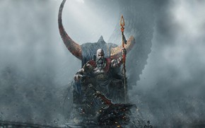 Picture Kratos, Kratos, God Of War, Blades of Chaos, Swords Of Chaos, Goksoy Rock Waterfall, Valhalla …