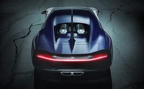 Picture Bugatti, supercar, rear view, hypercar, Chiron