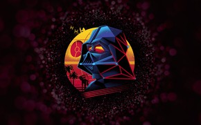Picture Minimalism, Figure, Space, Star Wars, Darth Vader, Mask, Art, Darth Vader, Lord Vader, by Vincenttrinidad, …