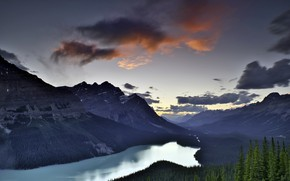 Picture Banff National Park, Alberta, Icefields Parkway, Lake Peyto