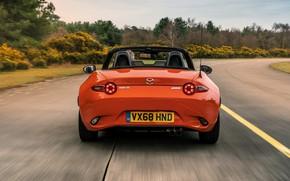 Picture orange, Mazda, Roadster, rear view, MX-5, 30th Anniversary Edition, 2019