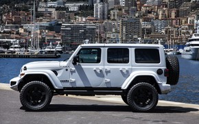 Picture side view, Wrangler, Jeep, Unlimited, 2019, Militem, Ferōx