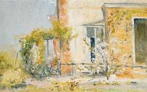 Picture landscape, house, picture, 1913, The Eyrie, Tom Roberts, Tom Roberts