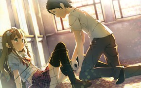 Picture mesh, on the floor, students, on my knees, youto uokodera, Azusa Then Everyone, Hentai Ouji …