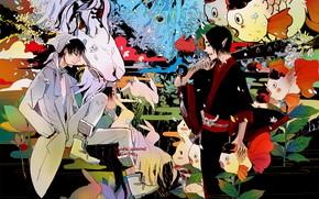 Picture the demon, art, guys, Hoozuki no Reitetsu, cold-blooded Hozuki