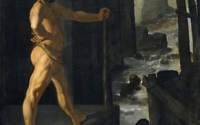 Picture Francisco de Zurbaran, 1634, Cycle of Hercules, Hercules blocked the river Alpheus
