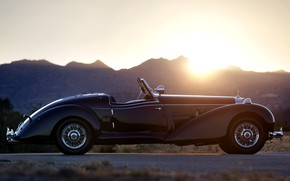 Picture Black, Vintage, 540 K, Mersedes Benz