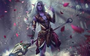 Picture WoW, Fantasy, Warcraft, Blizzard, Art, Elf, Characters, Eddy Shinjuku, Night elf, Game Art, World of …