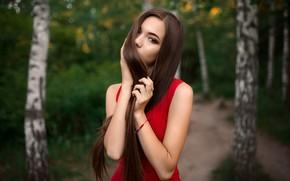 Picture girl, model, hair, Lily, Albert Lesnoy